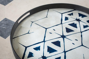 Tribal Hexagon glass tray