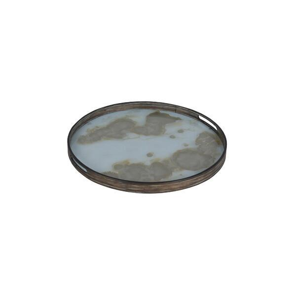 Mist Gold Organic glass tray