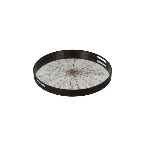 Slice mirror tray- light aged bronze