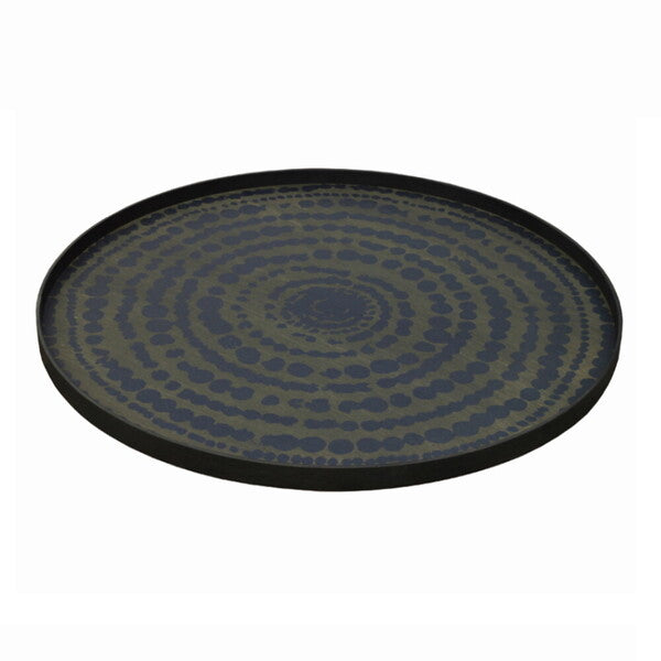 Midnight Beads wooden tray - round - XL