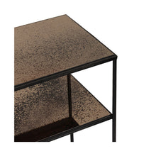 Load image into Gallery viewer, Bronze Copper sofa console - 2 shelves