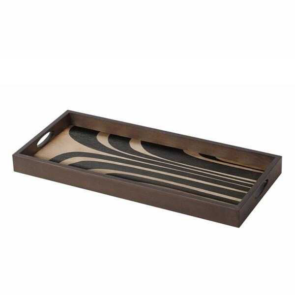Graphite Curves wooden tray