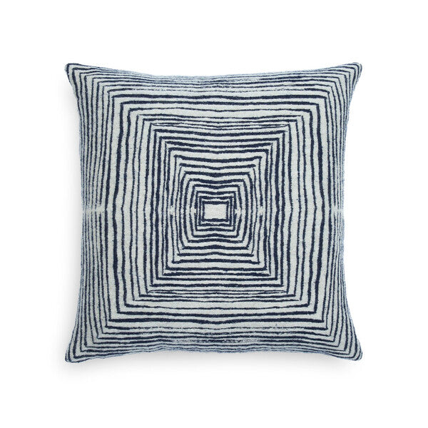White Linear Square cushion
