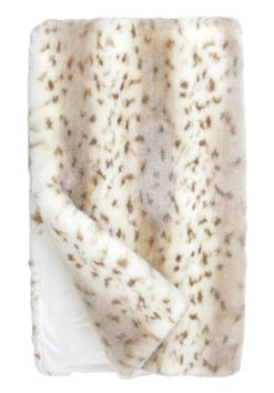 Couture Snow Leopard Throw