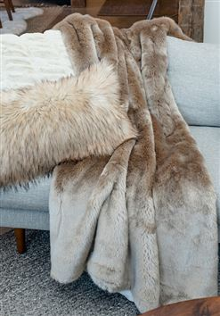 Couture Champagne Mink Throw