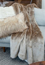 Load image into Gallery viewer, Couture Champagne Mink Throw