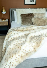 Load image into Gallery viewer, Couture Snow Leopard Throw