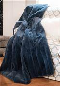 Posh Dusty Blue Throw