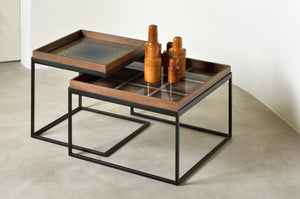 Square tray coffee table set - S/L (Trays not included)