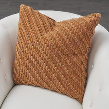 Load image into Gallery viewer, VELVET RIBBON PILLOW-RUST