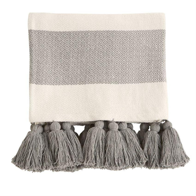 WOVEN TASSEL THROW BLANKET