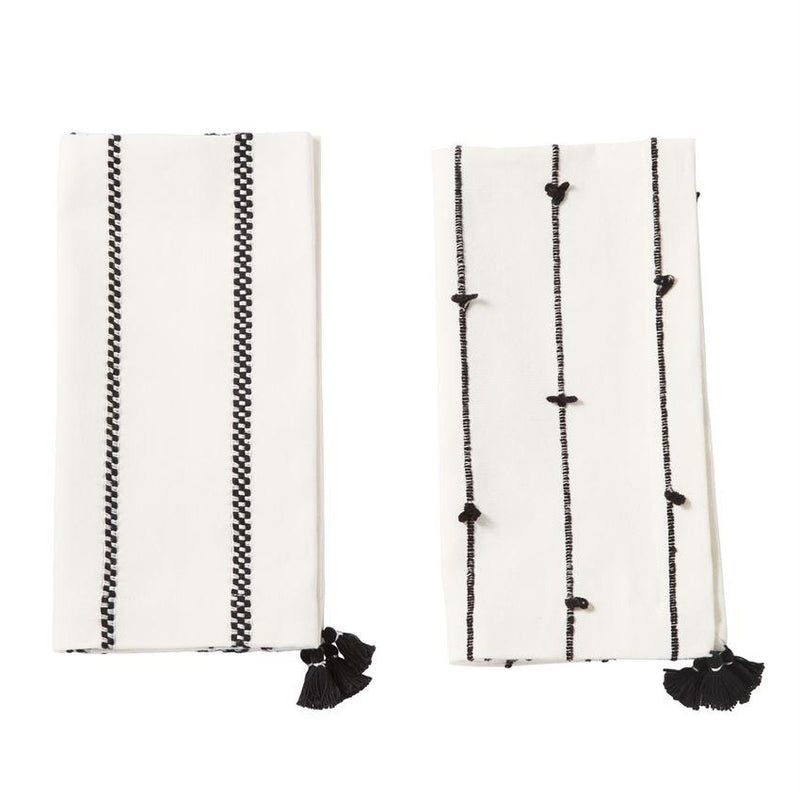 Blk & Wht Napkins Set of 4