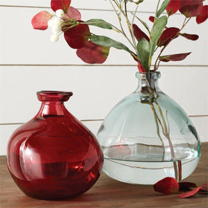 SHORT IRREGULAR FALL VASES Clear