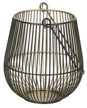 Load image into Gallery viewer, IRON WIRE TWO-TONE ELAINE CANDLE HOLDER BLACK/GOLD