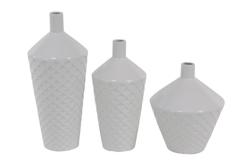 White UMA Vase Set of 3