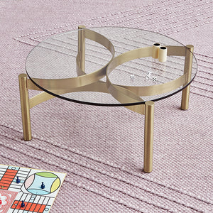 Compass Glass Coffee Table 30""