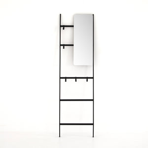Rectangular Entryway Mirror Ladder
