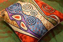 Load image into Gallery viewer, Klimt Rust Night Sky Decorative Pillow Cover