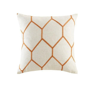 Brooklyn Metallic Geo Embroidered Pillow Pair