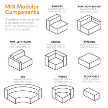 Load image into Gallery viewer, Mix Modular 5-PC Seating Group A