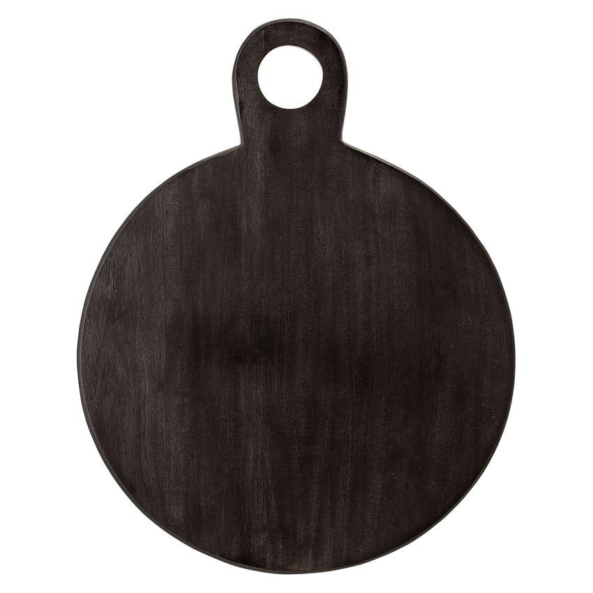 "18-3/4""L x 14-1/4""W Acacia Wood Tray/Cutting Board, Black"