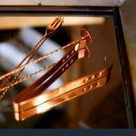 Shiny Copper Ice Tongs