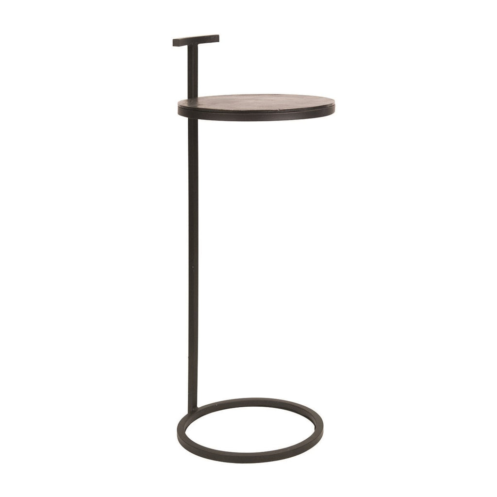 Drink Table Black Aluminium