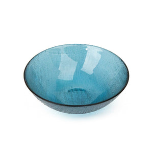 Bowl Sprayed  Glass Blue