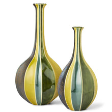 Load image into Gallery viewer, Green Flute Bottles Set of 2
