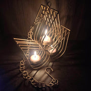 onesilver.in Candle Holder Clipped Hanging Flowered Candle Holder