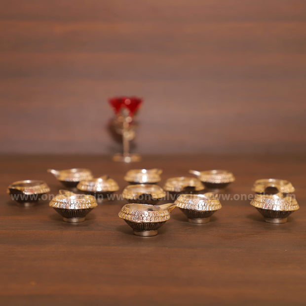onesilver.in deepa GS Kuber Deepa Set 9 pcs With Pooja Plate