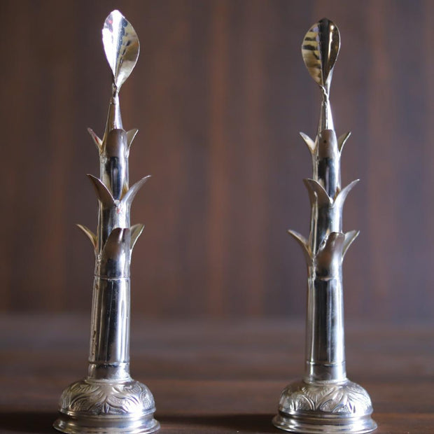 "onesilver.in german silver Banana Tree 12"" Pair"
