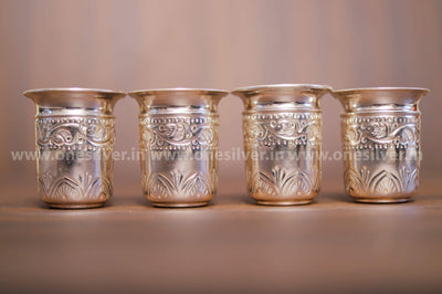 onesilver.in german silver German Silver four Glass Set.