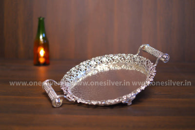 onesilver.in german silver German Silver Pooja Tray WGS-13