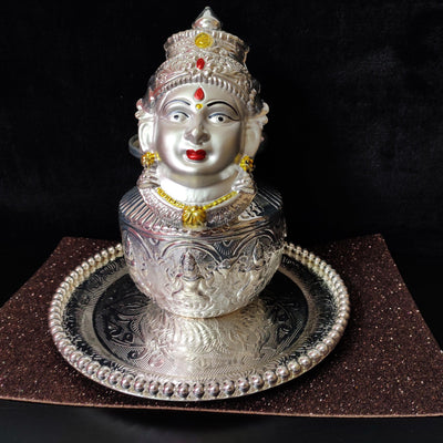 onesilver.in german silver GS Lakshmi devi set