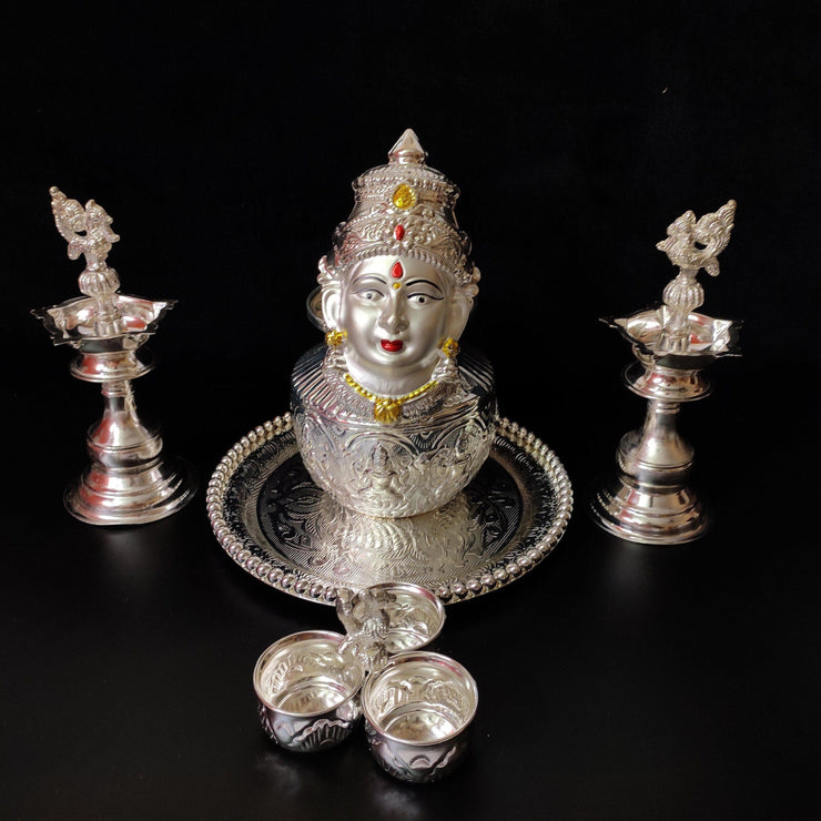 onesilver.in german silver GS Vara Maha Lakshmi set