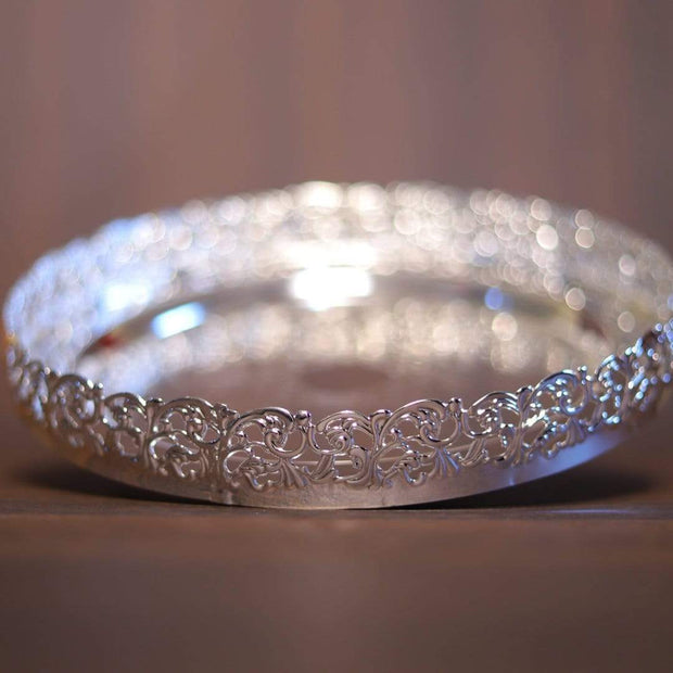 onesilver.in german silver Imported Pooja Plate WGS010