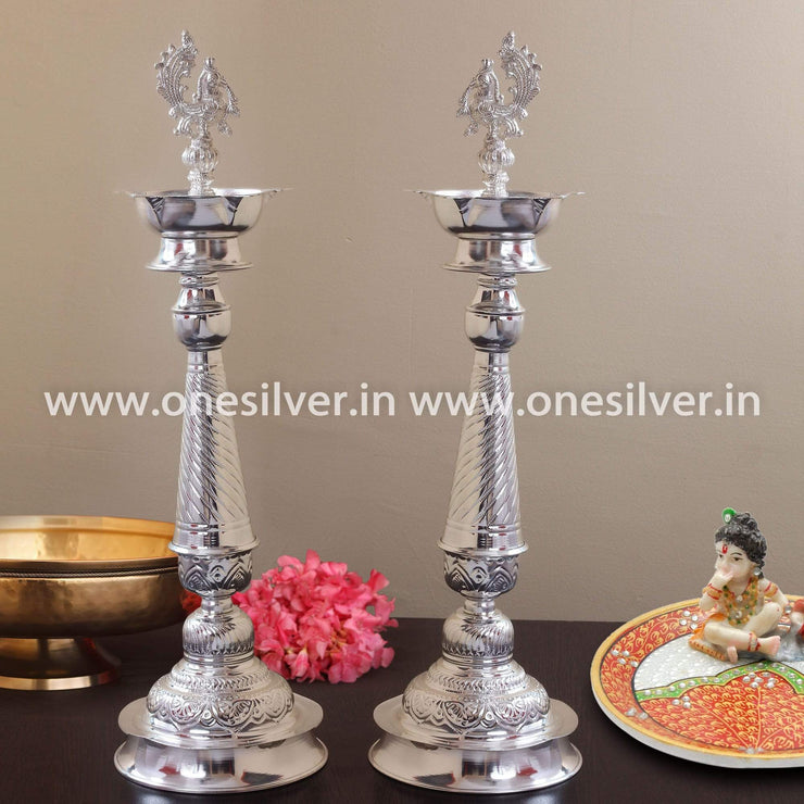 onesilver.in german silver Nakashi Deepa set 20""