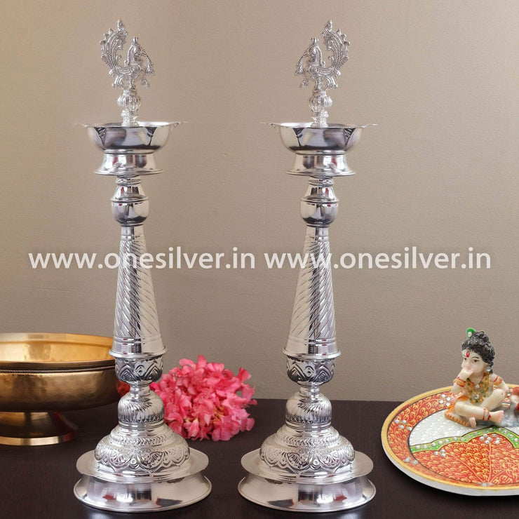 onesilver.in german silver Nakashi Deepa set 30""