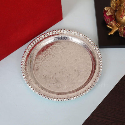 onesilver.in german silver Pearl Tray Round GT 147