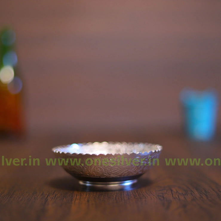 onesilver.in german silver Round Nakash design Bowl
