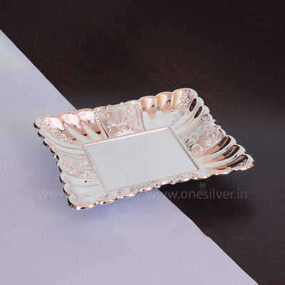 onesilver.in german silver Square Tray GT 9