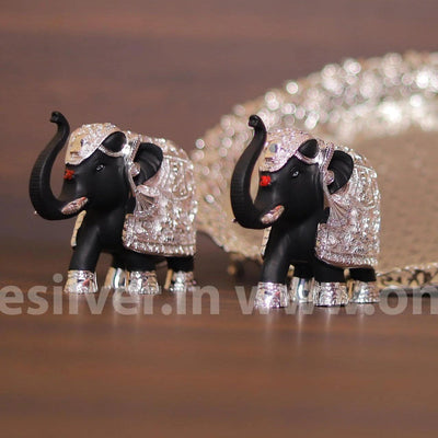 onesilver.in gift set Elephant Pair 4.5inch