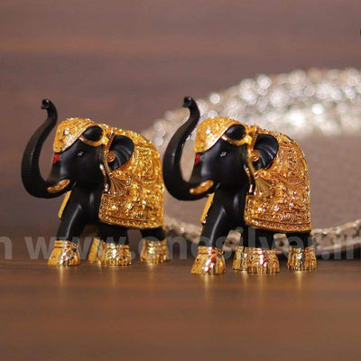 onesilver.in gift set Elephant Pair BG 4.5inch