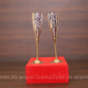 onesilver.in gift set GS designer wine glass set
