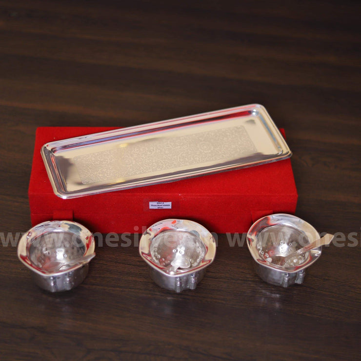 onesilver.in gift set GS Three cup Gift Set