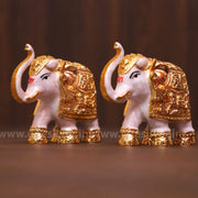 onesilver.in gift set Meena Elephant Pair Big 4.5""