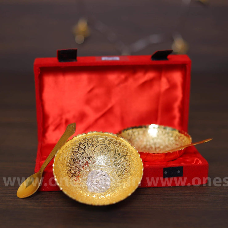 onesilver.in gift set Two cup  Gold & Silver  Gift Set