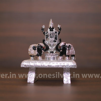 onesilver.in idols Chowki Balaji Black Silver Set Big