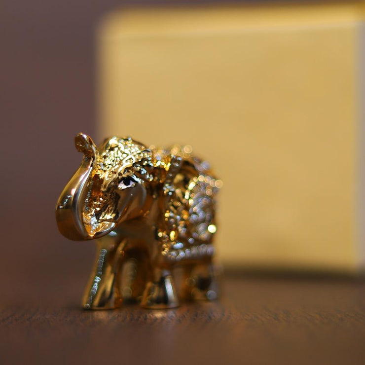 onesilver.in idols Elephant Gold Pair 2""